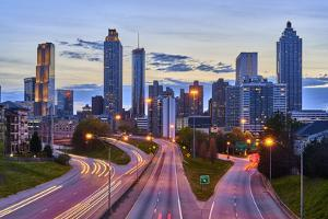 Sunset over downtown Atlanta, Georgia, USA by Panoramic Images