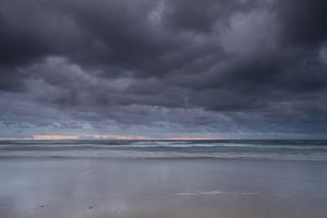 Thunderstorm over the ocean at night, Coral Sea, Surfer's Paradise, Gold Coast, Queensland, Aust... by Panoramic Images