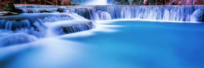 Waterfall in a forest, Mooney Falls, Havasu Canyon, Havasupai Indian Reservation, Grand Canyon N...