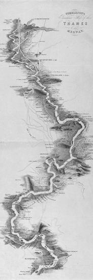 Panoramic Map of the River Thames, 1850--Giclee Print