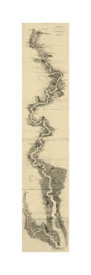 Panoramic Map of the Thames--Art Print