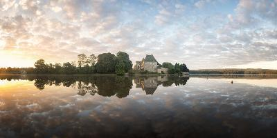 Panoramic of Abbaye Paimpont in Brittany-Philippe Manguin-Photographic Print