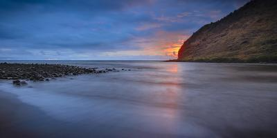 Panoramic of Halawa Beach on Molokai's East End-Richard A^ Cooke-Photographic Print
