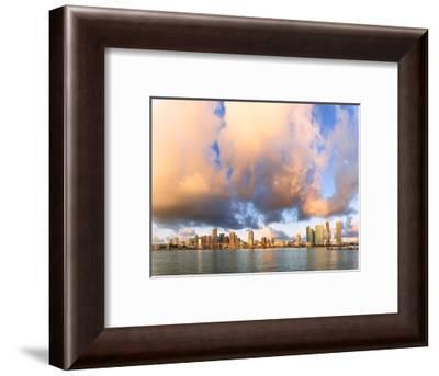 Panoramic of Miami skyline seen from Watson Island, Miami, Florida, USA-Roberto Moiola-Framed Photographic Print