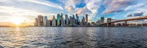 Panoramic Panorama View of outside Outdoors in NYC New York City Brooklyn Bridge Park by East River