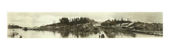 Panoramic Photo of Gig Harbor, WA (January 16, 1927)-Marvin Boland-Giclee Print