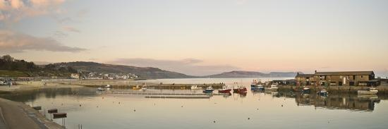 Panoramic View Back to the Harbour at Lyme Regis Taken from the Cobb-John Woodworth-Photographic Print