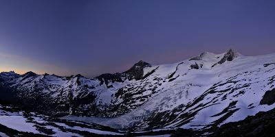 Panoramic View from the 'Neuen Prager HŸtte' (Alpine Hut) at Dawn, Venedigergruppe-Stefan Sassenrath-Photographic Print