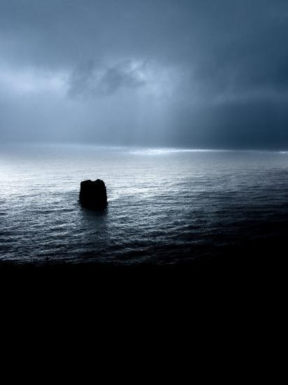 Panoramic View of a Sea, Dyrholaey, Iceland--Photographic Print