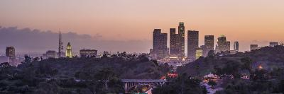 Panoramic View of Downtown Los Angeles at Sunset-Taesam Do-Photographic Print
