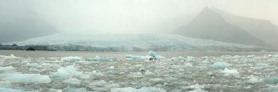 Panoramic View of Fjallsarlon Ice Lagoon in Iceland-Raul Touzon-Photographic Print