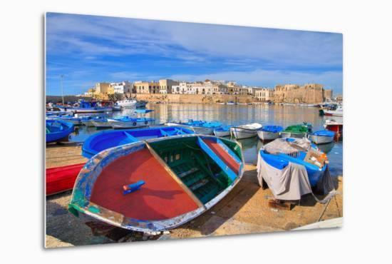Panoramic View of Gallipoli. Puglia. Southern Italy.-Mi.Ti.-Metal Print