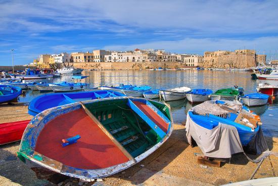 Panoramic View of Gallipoli. Puglia. Southern Italy.-Mi.Ti.-Photographic Print