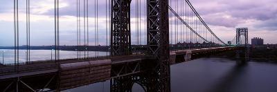 Panoramic View of George Washington Bridge over Hudson River from New York City, Ny--Photographic Print