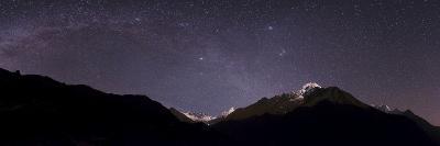 Panoramic View of Himalayas with the Milky Way over the Khumbu Valley-Babak Tafreshi-Photographic Print