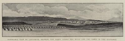 Panoramic View of Ladysmith, Showing the Camps Among the Hills and the Town in the Distance--Giclee Print