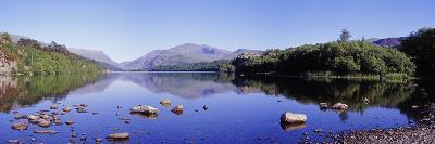 Panoramic View of Lake Padarn, Wales, UK-Mark Taylor-Photographic Print