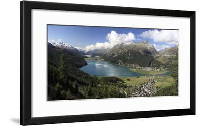 Panoramic View of Lakes Silvaplana and Surley, Julier Pass, Engadine-Roberto Moiola-Framed Photographic Print