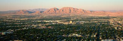 Panoramic View of Las Vegas Nevada Gambling City at Sunset--Photographic Print