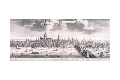 Panoramic View of London, 1710-Benjamin Smith-Giclee Print