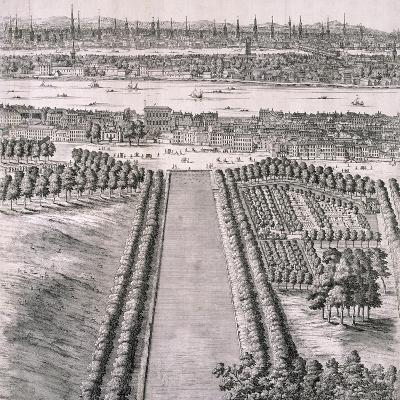 Panoramic View of London, 1720-Johannes Kip-Giclee Print