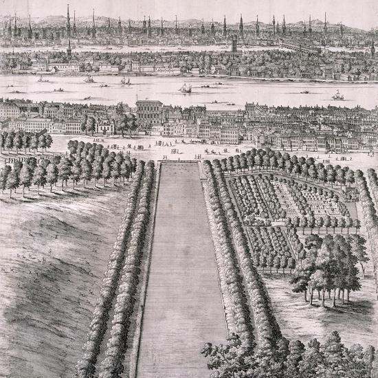 Panoramic View of London, 1720-Johannes Kip-Giclee Print