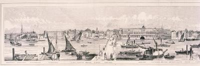 Panoramic View of London, 1844-Henry Vizetelly-Giclee Print