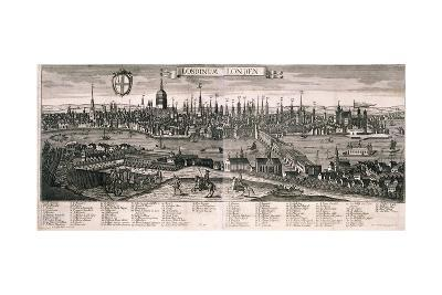Panoramic View of London, C1730-Marc Abraham Ruprecht-Giclee Print