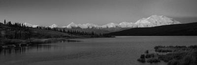 Panoramic view of Mount Denali, previously known as McKinley from Wonder Lake, Denali National P...