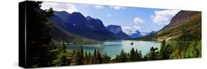 Panoramic View of Saint Mary Lake, West Glacier 'Going to Sun Road', Montana, USA