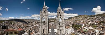 Panoramic View of the Bell Towers at the National Basilica, Quito, Ecuador-Brent Bergherm-Photographic Print