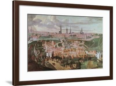Panoramic View of the City of Ghent at the End of the 16th Century-Lucas De Heere-Framed Giclee Print