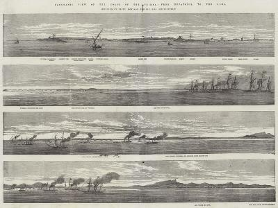 Panoramic View of the Coast of the Crimea, from Eupatoria to the Alma--Giclee Print