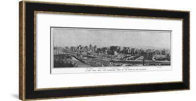 Panoramic View of the Ruins of San Francisco after the 1906 Earthquake, 1906--Framed Giclee Print