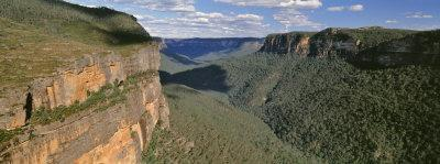 Panoramic View of Valley, Blue Mountains National Park, Australia--Photographic Print