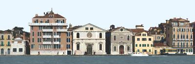 Panoramic View of Venice. Dorsoduro-Mike Burton-Photographic Print