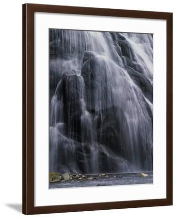 Panoramic View of Water Cascading Down the Cliff-Jeff Foott-Framed Photographic Print