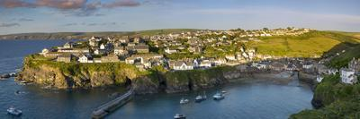 Panoramic View over Port Isaac, Cornwall, England-Brian Jannsen-Photographic Print