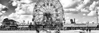 Panoramic View, Vintage Beach, Wonder Wheel, Coney Island, Brooklyn, New York-Philippe Hugonnard-Photographic Print