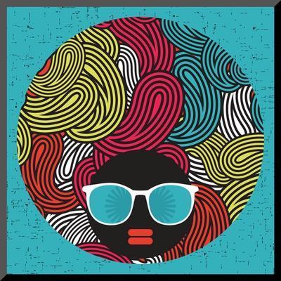 Black Head Woman With Strange Pattern Hair