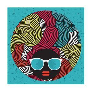 Black Head Woman With Strange Pattern Hair by panova