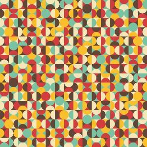 Retro Seamless Pattern With Circles by panova