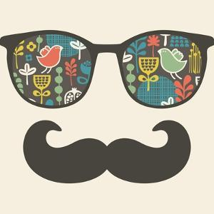 Retro Sunglasses With Reflection For Hipster by panova