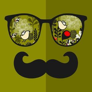 Retro Sunglasses with Reflection for Hipster. by panova