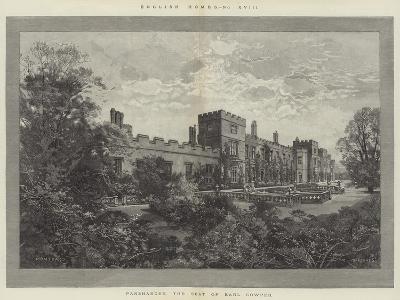 Panshanger, the Seat of Earl Cowper-Charles Auguste Loye-Giclee Print