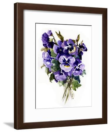 Pansies-Suren Nersisyan-Framed Art Print