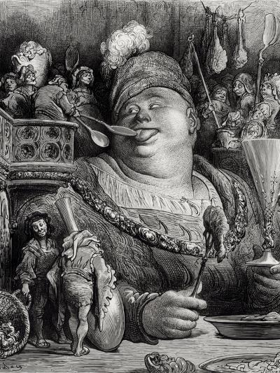 """Pantagruel's Meal, from """"Pantagruel"""" by Francois Rabelais-Gustave Dor?-Giclee Print"""