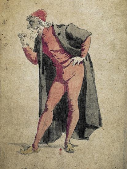 Super Pantalone, Commedia Dell'Arte Character by Maurice Sand (1823-1889 YU-39
