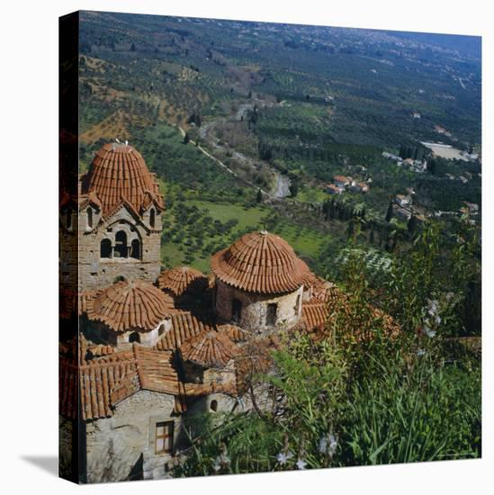 Pantanassa Monastery, Mistras, Greece, Europe-Tony Gervis-Stretched Canvas Print