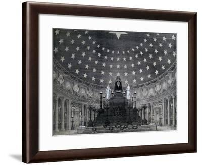 Pantheon for Victor Emmanuel II's Funeral Celebrated on February 16, 1878 in Rome, Italy--Framed Giclee Print